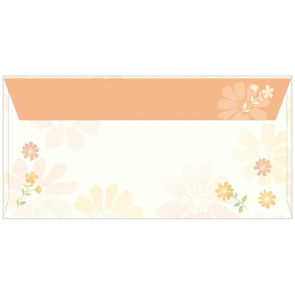 イベント用品 商品券袋 横封式 フラワリー 縦92mm×横184mm 100枚入 9-374 タカ印紙製品 ササガワ