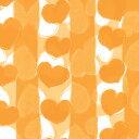 ハート柄包装紙(アムールオレンジ)【半才判・50枚入り・ラッピング用品】[繁盛工房]