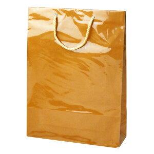 手提げバッグ キャリーバッグL 茶 50-6734   バッグ bag 紙バッグ 紙袋 手提げ袋 マチあり プレゼント ギフト 包装 梱包 誕生日 ギフト シンプル かわいい おしゃれ アクセサリー 小物 レジ 袋