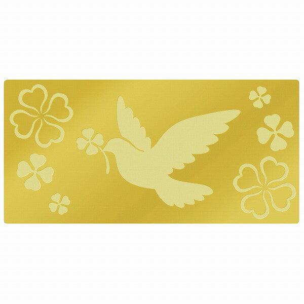 アドテープ ハト&クローバー 21-109 | 季節 四季 よつ葉 よつば 四つ葉 手紙 封緘 シール 簡単 ラッピング ラッピング用品 ギフト ギフト包装 ギフトラッピング プレゼント 贈り物 お礼 女性 包装 鳩 幸せ しあわせ モチーフ 封筒 金 ゴールド ペーパー 紙製 ご挨拶 挨拶状