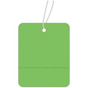 提札 緑地 小 ミシン目入 18-123 | 値札 値段 提げ札 プライス 札 POP ポップ タグ おしゃれ ラベル アパレル ハンドメイド 価格表示 手作り バザー フリマ 店舗用品 副資材 パーツ グリーン ブラ