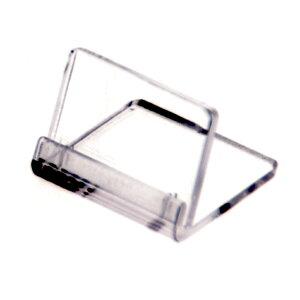 フリーサイズ カードスタンド 小 32-4610 | 差し込み 差込式 カード立て スタンド アクリル プライス クリップ クリップホルダー 値札 プライスカード カード ディスプレイ POP用品 ポップ 店舗