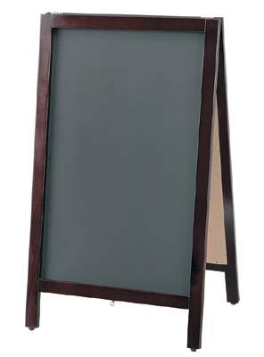 黒板スタンド チョーク用 TBD80-2 42-1868   POP 事務用品 黒板 ブラックボード お洒落 おしゃれ シンプル メニュー 看板 プライス ウェディング ボード スタンド ポスター パネル スタンド 木製 店舗 チョーク カフェ レストラン