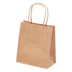 手提げバッグ 10P 茶無地 特小 50-6914 | バッグ bag 紙バッグ 紙袋 手提げ袋 マチあり プレゼント ギフト 包装 梱包 誕生日 ギフト シンプル かわいい おしゃれ アクセサリー 小物 レジ 袋 雑貨