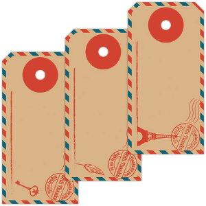【ゆうパケット対応】タグセット エアメール 19-2503 | タグ 値札 提札 プライス プライスカード プライスタグ ラッピング ラッピング用品 ギフト 贈答 贈答品 プチギフト 荷札 オリジナル か