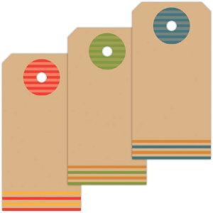 【ゆうパケット対応】タグセット カラフルボーダー 19-2504 | タグ 値札 提札 プライス プライスカード プライスタグ ラッピング ラッピング用品 ギフト 贈答 贈答品 プチギフト 荷札 オリジナ