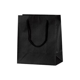 手提げバッグ マット黒 S22 50-6321 | バッグ bag 紙バッグ 紙袋 手提げ袋 マチあり プレゼント ギフト 包装 梱包 誕生日 ギフト シンプル かわいい おしゃれ アクセサリー 小物 レジ 袋 雑貨 店舗 ラッピング ペーパーバッグ 包装資材 荷物入れ 買い物バッグ