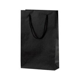 手提げバッグ マット黒 SーT 50-6421 | バッグ bag 紙バッグ 紙袋 手提げ袋 マチあり プレゼント ギフト 包装 梱包 誕生日 ギフト シンプル かわいい おしゃれ アクセサリー 小物 レジ 袋 雑貨 店舗 ラッピング ペーパーバッグ 包装資材 荷物入れ 買い物バッグ