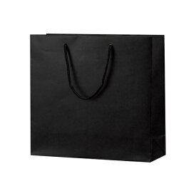 手提げバッグ マット黒 50-6521 | バッグ bag 紙バッグ 紙袋 手提げ袋 マチあり プレゼント ギフト 包装 梱包 誕生日 ギフト シンプル かわいい おしゃれ アクセサリー 小物 レジ 袋 雑貨 店舗 ラッピング ペーパーバッグ 包装資材 荷物入れ 買い物バッグ