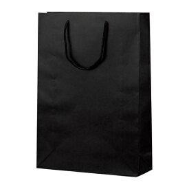 手提げバッグ マット黒 L 50-6621 | バッグ bag 紙バッグ 紙袋 手提げ袋 マチあり プレゼント ギフト 包装 梱包 誕生日 ギフト シンプル かわいい おしゃれ アクセサリー 小物 レジ 袋 雑貨 店舗 ラッピング ペーパーバッグ 包装資材 荷物入れ 買い物バッグ