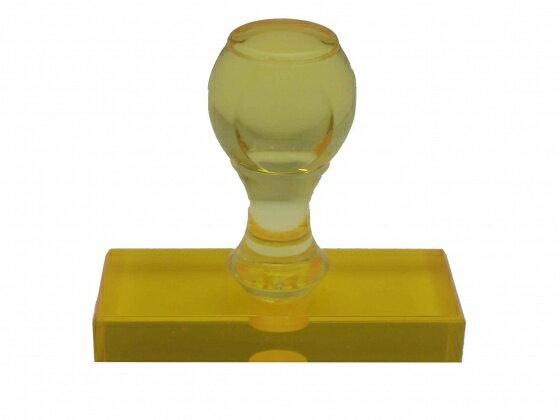 ゴム印 トップスター台(プラスチック台) サイズ:タテ20mm×ヨコ60mm 赤ゴム イエロー(橙)色(05P29Jul16)