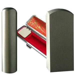 チタン印鑑 代表者印(寸胴16.5)・角印(寸胴24.0)2本セットケース付