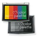 ツキネコ スタンプ インク カラーパレット5色コンビ cp-