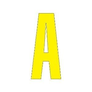 【最大1000円OFFクーポン発行中】ユニット UNIT 路面表示シート 835−065Y アルファベットA 120×60 黄