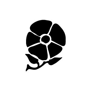 ゴム印/イラストスタンプ 8×8mm【あさがお】A-019[スタンプ/はんこ/判子/ハンコ/ワンポイント 定型 イラスト/かわいい/可愛い/おしゃれ]【メール便配送対応商品】
