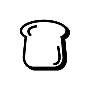 ゴム印/イラストスタンプ 8×8mm【食パン】B-006[スタンプ/はんこ/判子/ハンコ/ワンポイント 定型 イラスト/かわいい/可愛い/おしゃれ]【メール便配送対応商品】