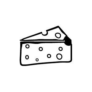 ゴム印/イラストスタンプ 8×8mm【チーズ】B-010[スタンプ/はんこ/判子/ハンコ/ワンポイント 定型 イラスト/かわいい/可愛い/おしゃれ]【メール便配送対応商品】