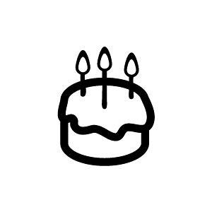 ゴム印/イラストスタンプ 8×8mm【ホールケーキ】B-011[スタンプ/はんこ/判子/ハンコ/ワンポイント 定型 イラスト/かわいい/可愛い/おしゃれ]【メール便配送対応商品】