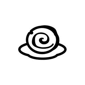 ゴム印/イラストスタンプ 8×8mm【ロールケーキ】B-014[スタンプ/はんこ/判子/ハンコ/ワンポイント 定型 イラスト/かわいい/可愛い/おしゃれ]【メール便配送対応商品】