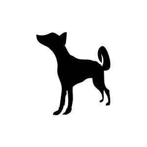 ゴム印/イラストスタンプ 8×8mm【犬】C-001[いぬ/スタンプ/はんこ/判子/ハンコ/ワンポイント 定型 イラスト/かわいい/可愛い/おしゃれ]【メール便配送対応商品】