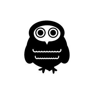 ゴム印/イラストスタンプ 8×8mm【フクロウ】C-020[ふくろう/スタンプ/はんこ/判子/ハンコ/ワンポイント 定型 イラスト/かわいい/可愛い/おしゃれ]【メール便配送対応商品】