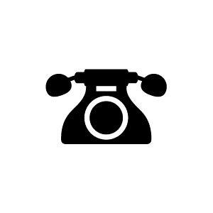 ゴム印/イラストスタンプ 8×8mm【電話】E-002[スタンプ/はんこ/判子/ハンコ/ワンポイント 定型 イラスト/かわいい/可愛い/おしゃれ]【メール便配送対応商品】