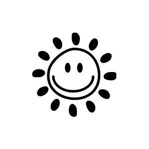 ゴム印/イラストスタンプ 8×8mm【晴れ】G-009[スタンプ/はんこ/判子/ハンコ/ワンポイント 定型 イラスト/かわいい/可愛い/おしゃれ]【メール便配送対応商品】