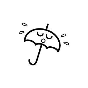 ゴム印/イラストスタンプ 8×8mm【雨】G-011[スタンプ/はんこ/判子/ハンコ/ワンポイント 定型 イラスト/かわいい/可愛い/おしゃれ]【メール便配送対応商品】