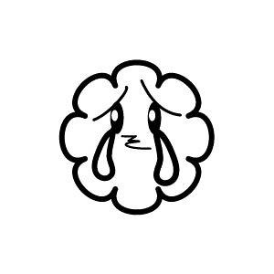 ゴム印/イラストスタンプ 8×8mm【シクシク-雲】H-003[スタンプ/はんこ/判子/ハンコ/ワンポイント 定型 イラスト/かわいい/可愛い/おしゃれ]【メール便配送対応商品】