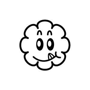 ゴム印/イラストスタンプ 8×8mm【エヘッ-雲】H-010[スタンプ/はんこ/判子/ハンコ/ワンポイント 定型 イラスト/かわいい/可愛い/おしゃれ]【メール便配送対応商品】