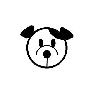 ゴム印/イラストスタンプ 8×8mm【おすまし-犬】H-011[いぬ/スタンプ/はんこ/判子/ハンコ/ワンポイント 定型 イラスト/かわいい/可愛い/おしゃれ]【メール便配送対応商品】