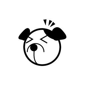 ゴム印/イラストスタンプ 8×8mm【アッ-犬】H-012[いぬ/スタンプ/はんこ/判子/ハンコ/ワンポイント 定型 イラスト/かわいい/可愛い/おしゃれ]【メール便配送対応商品】