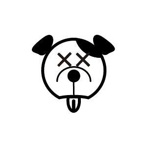 ゴム印/イラストスタンプ 8×8mm【アチャーッ-犬】H-014[いぬ/スタンプ/はんこ/判子/ハンコ/ワンポイント 定型 イラスト/かわいい/可愛い/おしゃれ]【メール便配送対応商品】