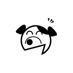 ゴム印/イラストスタンプ 8×8mm【エヘッ-犬】H-017[いぬ/スタンプ/はんこ/判子/ハンコ/ワンポイント 定型 イラスト/かわいい/可愛い/おしゃれ]【メール便配送対応商品】