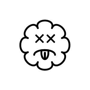 ゴム印/イラストスタンプ 8×8mm【アチャーッ-雲】H-018[スタンプ/はんこ/判子/ハンコ/ワンポイント 定型 イラスト/かわいい/可愛い/おしゃれ]【メール便配送対応商品】