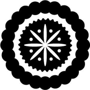 ゴム印/レーススタンプ 30×30mm/lace3030-001[模様/スタンプ/レース柄/定型 イラスト ゴム印/はんこ/ハンコ/判子/かわいい/可愛い/おしゃれ]