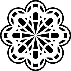 ゴム印/レーススタンプ 30×30mm/lace3030-008[模様/スタンプ/レース柄/定型 イラスト ゴム印/はんこ/ハンコ/判子/かわいい/可愛い/おしゃれ]