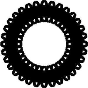 ゴム印/レーススタンプ 30×30mm/lace3030-014[模様/スタンプ/レース柄/定型 イラスト ゴム印/はんこ/ハンコ/判子/かわいい/可愛い/おしゃれ]