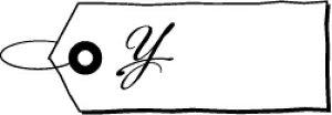 ゴム印/タグスタンプ 23×39mm/tag2339-005 「¥(円マーク)」[スタンプ/はんこ/ハンコ/判子/かわいい/可愛い/おしゃれ]