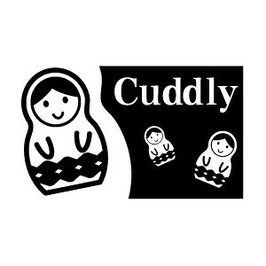 ゴム印/タグスタンプ 23×39mm/tag2339-020 「Cuddly」[スタンプ/英字/定型 ゴム印/はんこ/ハンコ/判子/かわいい/可愛い/おしゃれ]