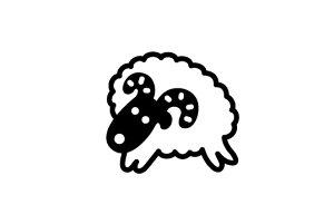ゴルフボールスタンプ/マイボールスタンプ/キャラクターアイコンタイプ【No.33 牡羊座】[ボールスタンプ/イラスト スタンプ/印鑑/はんこ/ハンコ/判子/父の日/ギフト プレゼント/ゴルフコンペ