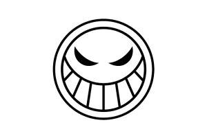 ゴルフボールスタンプ/ワンピース マイボールスタンプ/海賊旗シリーズ/エースver.[ONE PIECE/ボールスタンプ/イラスト スタンプ/印鑑/はんこ/ハンコ/判子/父の日/ギフト プレゼント/ゴルフコン