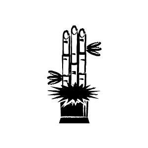 定型ゴム印 年賀スタンプ 28×51mm イラストタイプ NENGA-2851-014(門松)[年賀状 スタンプ/ゴム印 事務用品/はんこ/ハンコ/判子]