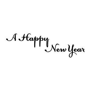 定型ゴム印 年賀スタンプ 28×74mm 文字タイプ/横-【A Happy New Year】 NENGA-2874-009[年賀状 スタンプ/ゴム印 事務用品/はんこ/ハンコ/判子]