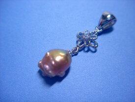 送料無料 真珠 ペンダントトップ ローズバッド ホヤ レディス 女性 かわいい アクセサリー ジュエリー ギフト プレゼント 贈り物 HP-4