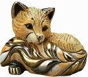 送料無料 赤キツネ親 F199陶器 置物 動物 キツネ きつね 狐 fox 稲荷 インテリア オブジェ おしゃれ かわいい 雑貨 贈り物 プレゼント …