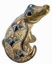 送料無料 ワニ子供 F362陶器 置物 動物 ワニ わに 鰐 クロコダイル crocodile アリゲーター alligator ペット インテリア オブジェ 雑…
