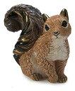 送料無料 リス F224陶器 置物 動物 リス りす 栗鼠 squirrel ナッツ クルミ インテリア オブジェ おしゃれ かわいい 雑貨 贈り物 プレ…