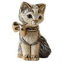 【送料無料】 リボンネコ子供グレー<猫 ネコ ねこ cat キャット ウルグアイ製>