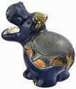 送料無料 カバ子供 F367陶器 置物 動物 カバ かば hippo アフリカ インテリア オブジェ おしゃれ かわいい 雑貨 贈り物 プレゼント ウ…